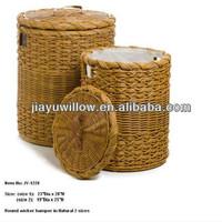Linyi Wholesale cheap handmade willow woven grey laundry basket