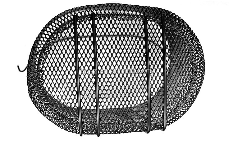 Black steel wire bicycle basket