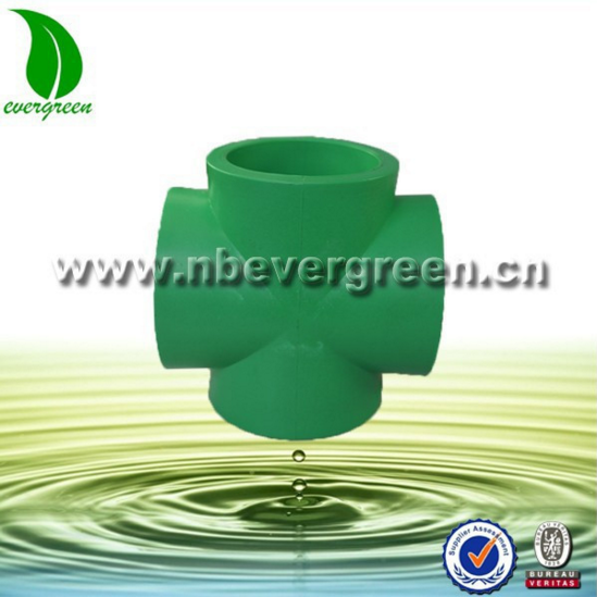 Cheap hot water supply pipe fitting PPR cross