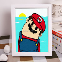 Free mind free painting mario game oil painting diy digital painting by numbers for kids