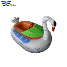 2017 factory direct sale swimming pool adult cheap children water games electric inflatable used bumper boats for sale