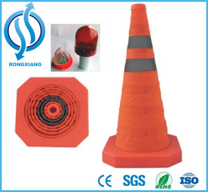 Rechargeable LED light protable Traffic cone road safety cones