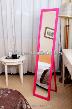 Rose Pink Glossy Wooden Free Standing Wholesale Full