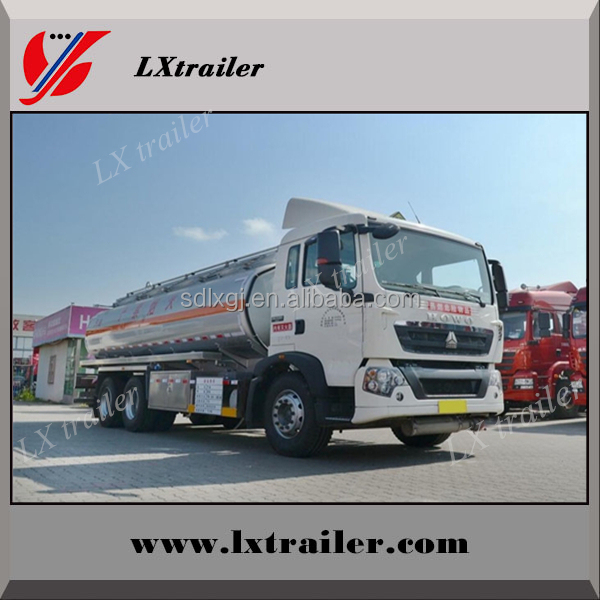 LiangXiang Large Volume Fuel Oil Tanker / Liquid Tanker Liquid Tank Trailer