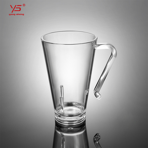 Eco-friendly high quality drinking home transparent plastic handle water cup