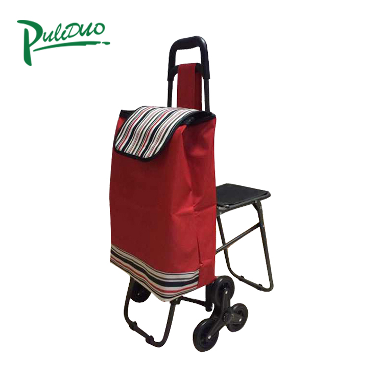 Guaranteed Quality with specification trolley folding bag shopping trolley cart with rolling wheels