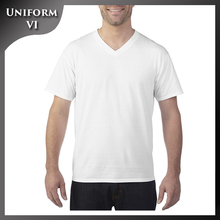 Mens office uniform personalized design screen print t-shirt with custom logo