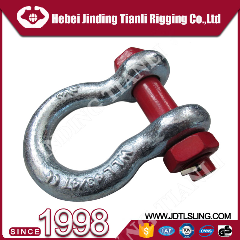 bolt shackle marine hardware us type g209 shackle stainless steel d shackle