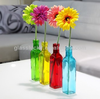 Flower Gl Vase Single Gl Flower Vase Gl Bottle Flower Vase ... on