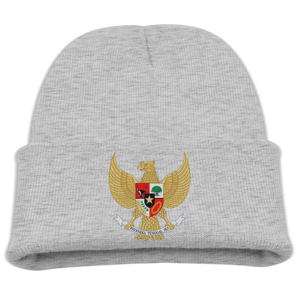 9ac09cef0c2 Get Quotations · Yimo National Emblem Of Indonesia Garuda Pancasila Kids Fashion  Beanies Black
