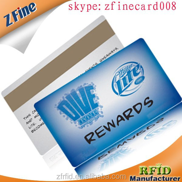 Z-Fine factory sell CR80 Standard Size Printed Serial Numbers 128 39 barcode magnetic strip white signature strip pvc card