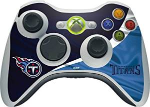 NFL Tennessee Titans Xbox 360 Wireless Controller Skin - Tennessee Titans Vinyl Decal Skin For Your Xbox 360 Wireless Controller