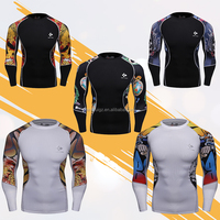 Wholesale Fitness Apparel Men Bodybuilding Long Sleeve Shirt Rash Guards Bjj Sports Wear