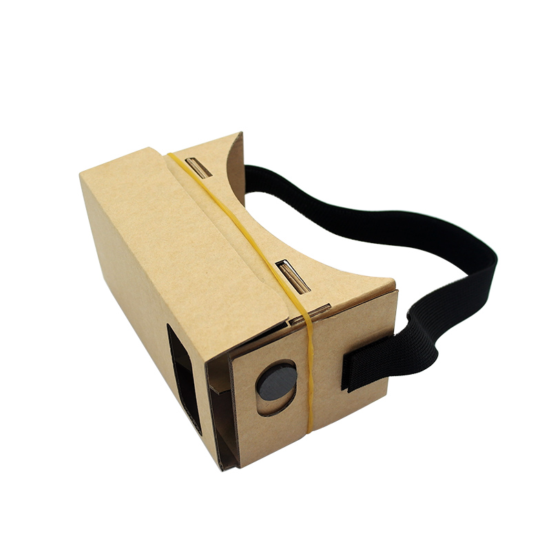 The DIY virtual reality vr 3d glasses headset cardboard for mobile phone