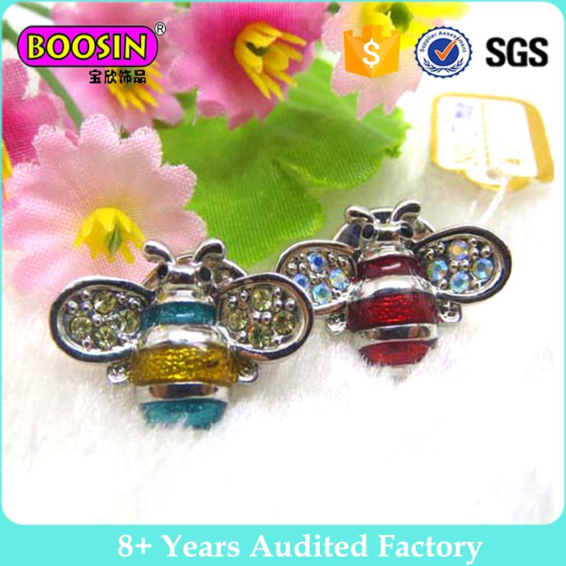 Fashion Jewelry 3D Enamel Lapel Pin Bee Brooch for Party