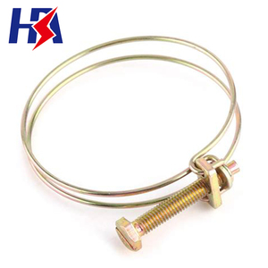 Heavy duty wholesale stainless steel pole rope clamp iron double wire clamps