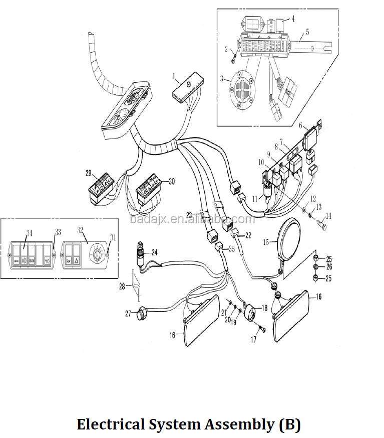 Supply Jinma 450 454 Tractor Spare Parts Electrical System Parts