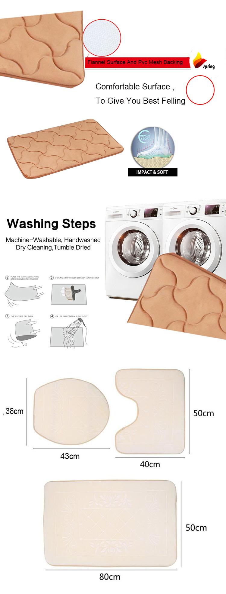 Casa Colorido Tecido de Flanela 3 pc Conjunto Tapete de Banho para Banheiro