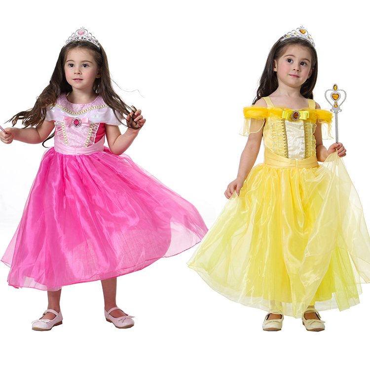 Considerate Beauty And The Beast Belle Costume Girls Adult Costumes Kids Cosplay Princess Gril Yellow Pink Dress Aurora Halloween Sleeping Kids Costumes & Accessories Costumes & Accessories
