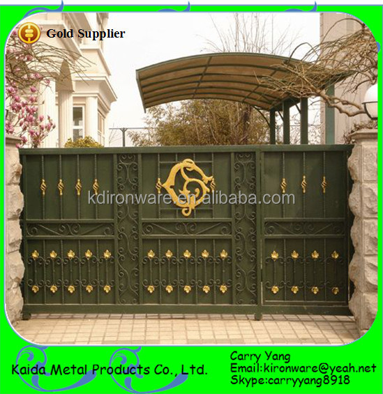 Home Design Gate Ideas: New Wrought Iron Sliding Main Gate Designs