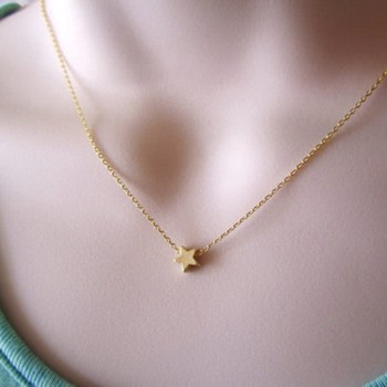 Simple Thin Chain Pentacle Chic 14k Gold Plated Star Necklace Buy