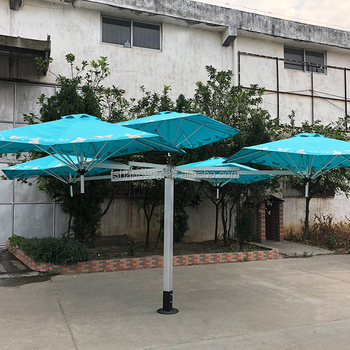 Customization Stylish Unique 5 Head Patio Umbrella For Coffee Shop Us
