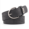 Manufacture fashion beautiful frosted PU belt for woman with alloy needle buckle