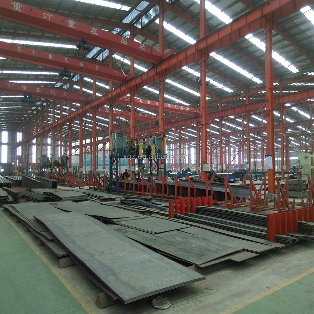 Self storage prefab warehouse frame