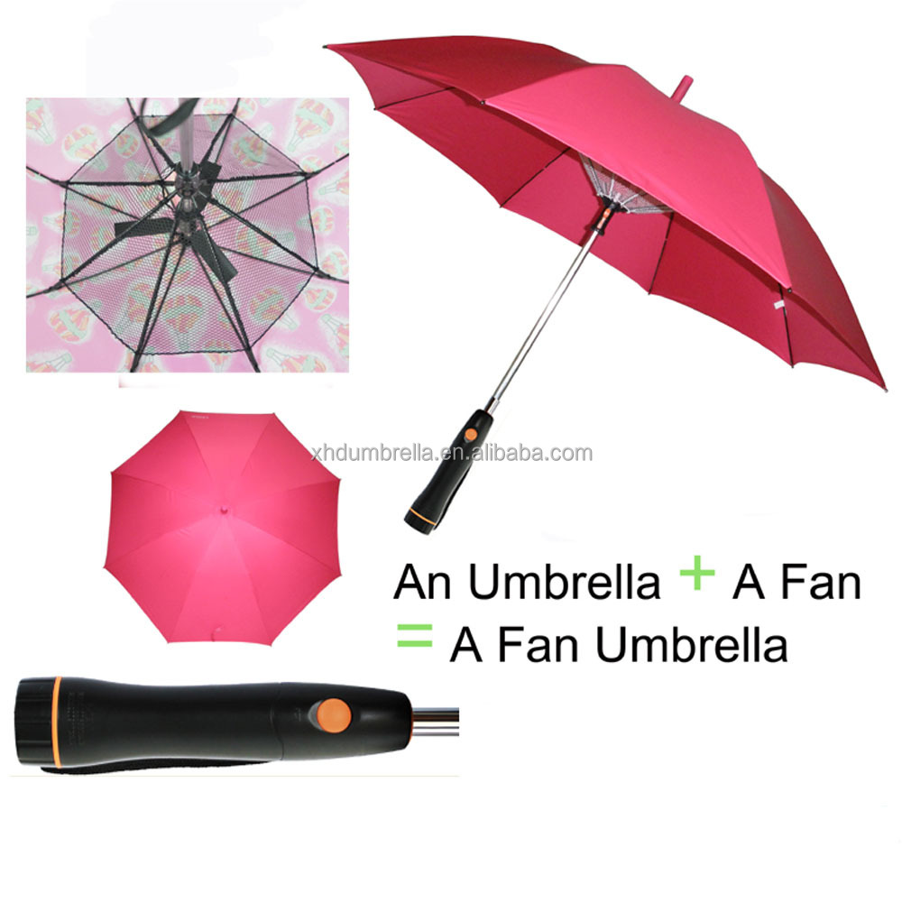 2018 new fan umbrella and patent umbrella with fan inside