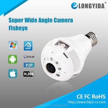 960p Security Camera Light Bulb P2p Remote Control Wifi Lamp ...