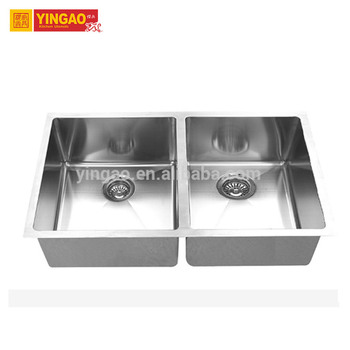 Handmade Double Bowl Undermount Brushed Stainless Steel Kitchen Sink