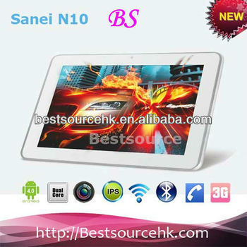 sanei n10 3g dual core gps 10 1 inch 1280x800 ips tablet android 4 0 gsm bluetooth phone