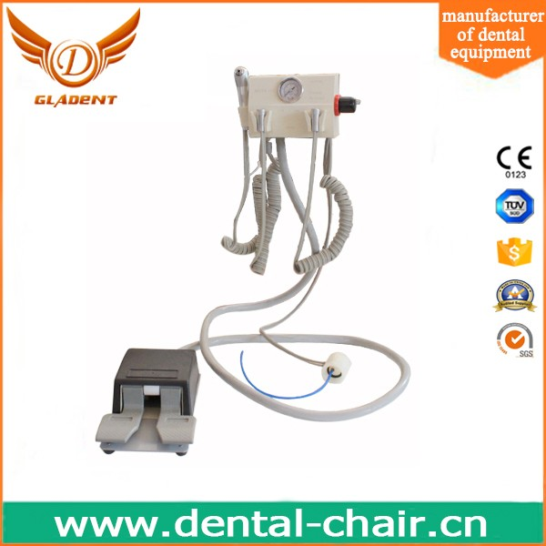 Wall-Type Portable Dental Turbine Unit Work With Compressor with 3 way syringe portable dental air turbine unit machine
