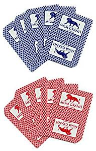 2 MGM Grand Casino Las Vegas Nevada Real Used Playing Decks of Cards by MGM Grand