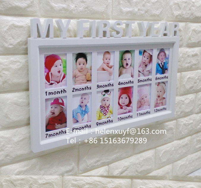 Baby 12 Months Collage Photo Frame With 12 Openning Windows Buy