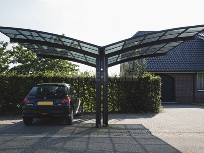 polycarbonate roof metal carport for 2 cars buy flat. Black Bedroom Furniture Sets. Home Design Ideas
