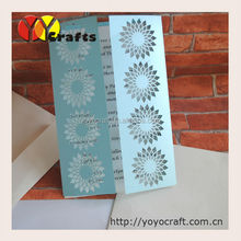 new design beautiful blue flowers arabic wedding invitations cards, 50th happy birthday invitations cards