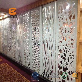 Interior MDF Grille Screen Panel For Partition Wall