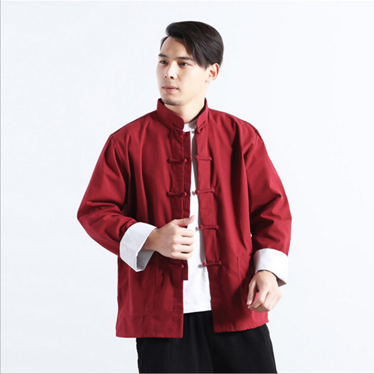 2017 Spring Autumn Men Long Sleeve BlouseTraditional Chinese Clothing