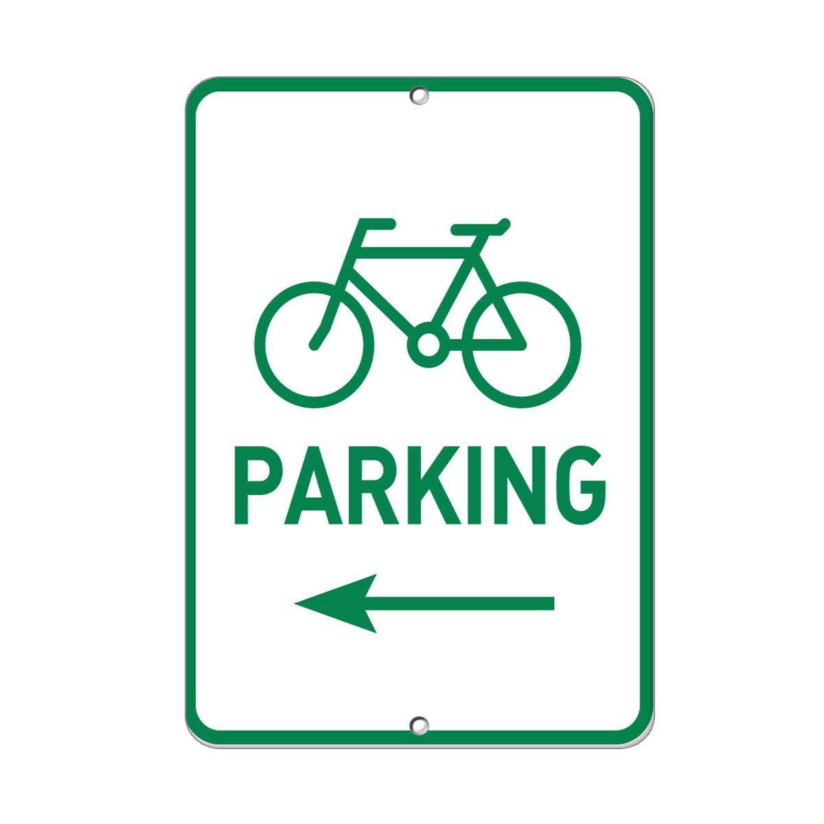"BICYCLE PARKING 12/""x18/"" METAL//PVC SIGN"