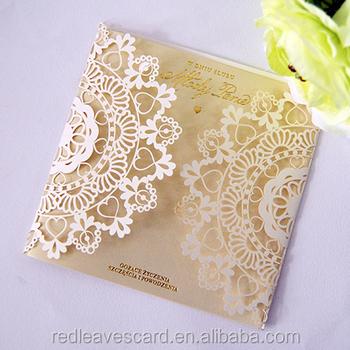 Charming Laser Cut Wedding Invitation Cards Decorations