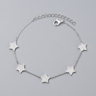 Turkey best selling five stars shape sterling silver chain bracelet