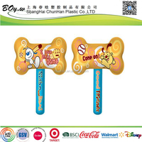 EN71 testing supplier promotion children play games pvc kids toy inflatable bone hammer