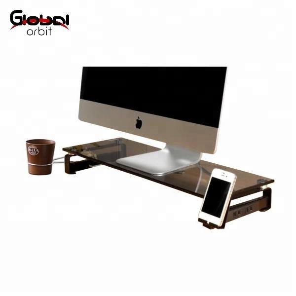 Slim Universal Glass Lcd Computer Desk Organizer Monitor Stand Buy