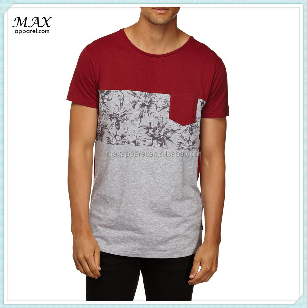 Design t shirt with pocket - Man Short Sleeve Cotton T Shirt Chest Pocket Design T Shirt Custom Print T