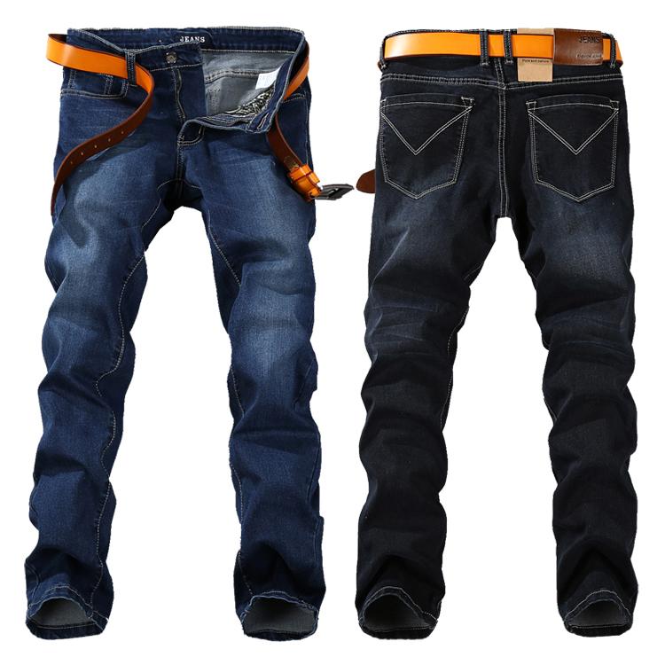 17c0aa0120c82 2015 summer style plus size 40 42 44 46 48 big men jeans straight fit denim  jean blue black baggy jeans for men nzk34