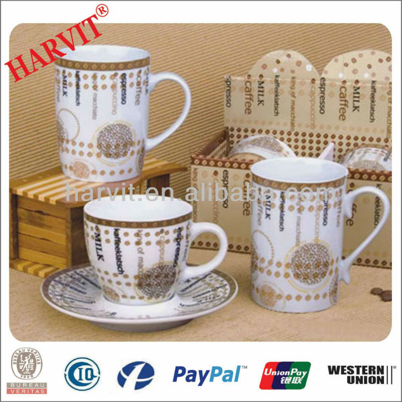 Crockery Importers Clay Oven For Ceramics Copper Bank Coffee Mugs And Plate Coaster Set Wholesale