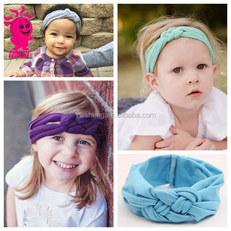 Hot Sale Toddler Soft Headwear Baby Cross Knot Hairbands Turban Knit Knot  Headbands 1141a23f463
