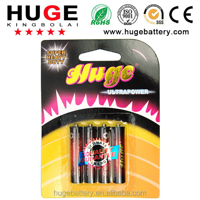 1.5V Carbon zinc dry battery R03P AAA UM-4 with PVC jacket