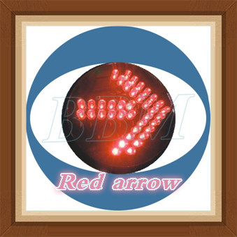8inch red arrow traffic sign module with fresnel lens
